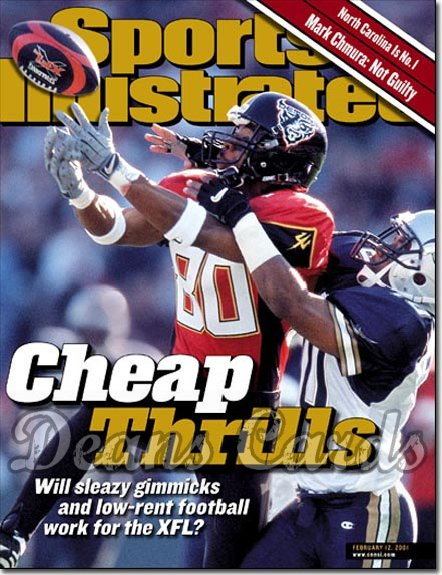 2001 Sports Illustrated - With Label   February 12  -  James Hundon (SF Demons) (XFL)