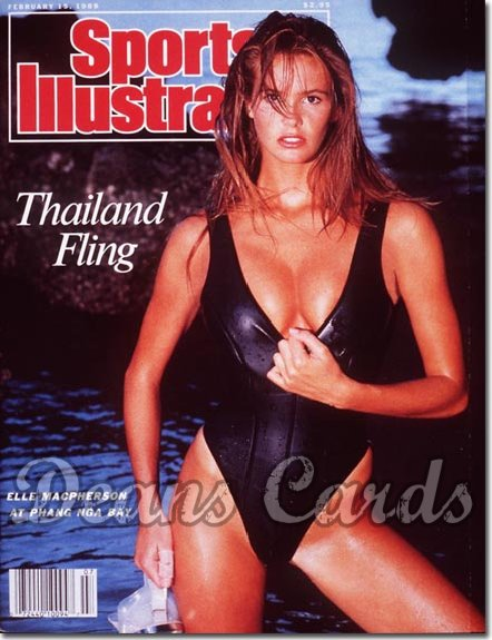 1988 Sports Illustrated - With Label   February 15  -  Elle Macpherson Swimsuit Issue