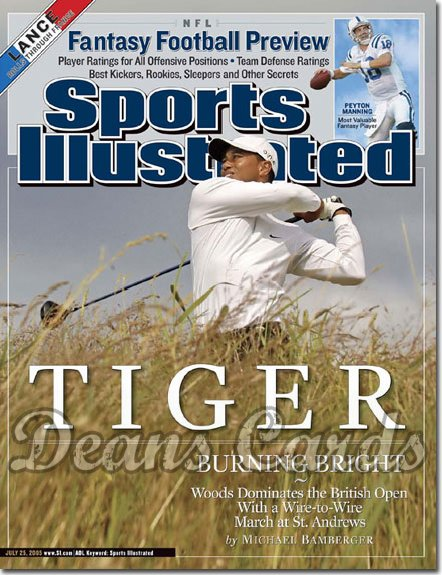 2005 Sports Illustrated - With Label   July 25  -  Tiger Woods Wins British Open Golf