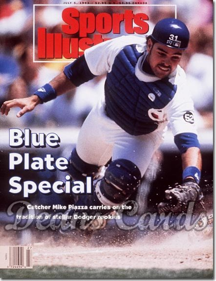 1993 Sports Illustrated - With Label   July 5  -  Mike Piazza (LA Dodgers)