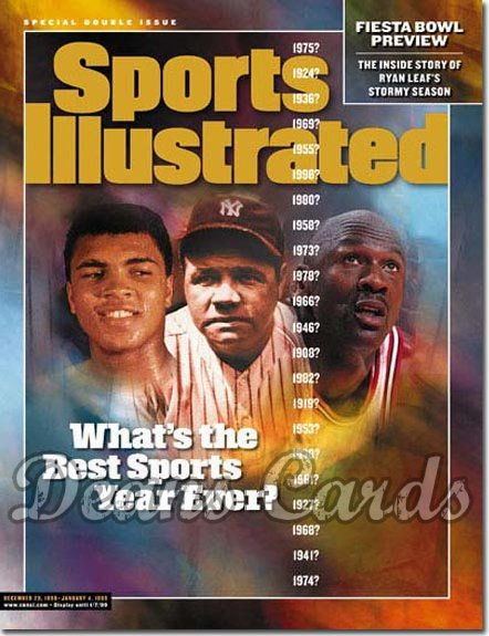 1998 Sports Illustrated - With Label   December 28  -  Muhammad Ali Babe Ruth Michael Jordan