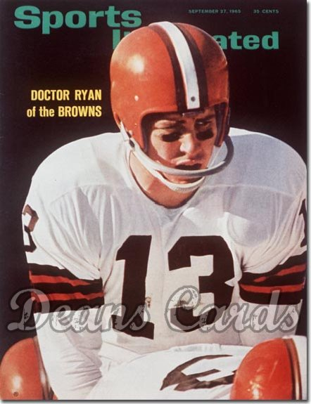 1965 Sports Illustrated - With Label   September 27  -  Frank Ryan (Cleveland Browns)