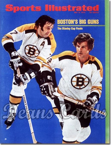 1972 Sports Illustrated - With Label   May 8  -  Bobby Orr/Phil Esposito (Boston Bruins)