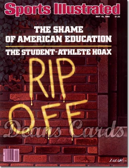 1980 Sports Illustrated - With Label   May 19  -  Student Athlete Hoax