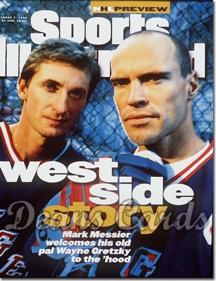 1996 Sports Illustrated - With Label   October 7  -  Wayne Gretzky & Mark Messier (NY Rangers)