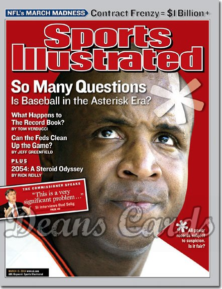 2004 Sports Illustrated - With Label   March 15  -  Barry Bonds
