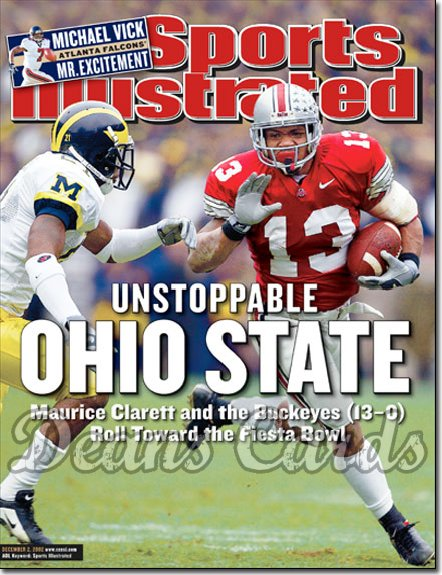 2002 Sports Illustrated - With Label   December 2  -  Maurice Clarett Ohio State Buckeyes