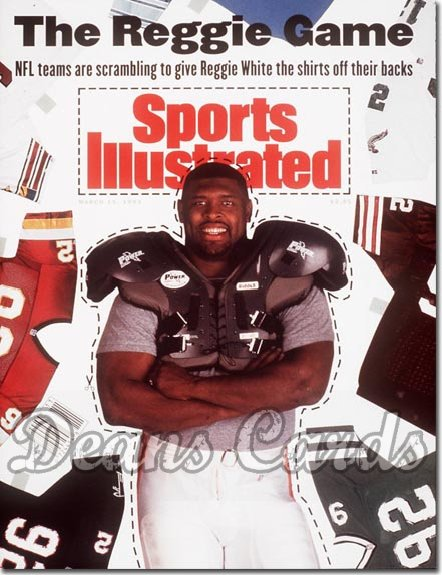 1993 Sports Illustrated - With Label   March 15  -  Reggie White (Free Agent) (Green Bay)