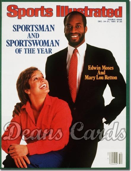 1984 Sports Illustrated - No Label   December 24  -  Mary Lou Retton & Edwin Moses (SOY)