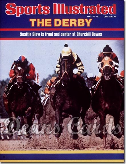1977 Sports Illustrated - With Label   May 16  -  Seattle Slew (Kentucky Derby)