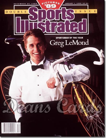 1989 Sports Illustrated - With Label   December 25  -  Greg Le Mond (Cycling)/Sportsmanofthe Year/Pictures & #39;89