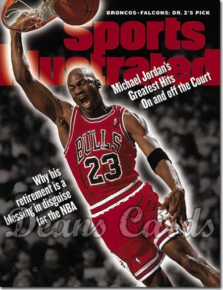 1999 Sports Illustrated - With Label   January 25  -  Michael Jordan Chicago Bulls