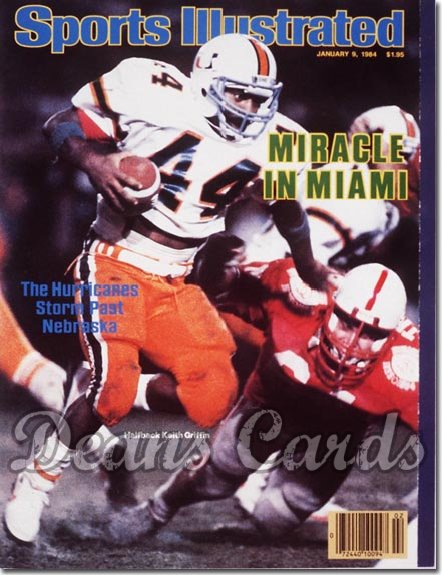 1984 Sports Illustrated - With Label   January 9  -  Keith Griffith (Miami Hurricanes)