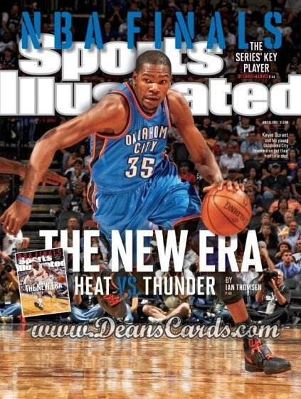 2012 Sports Illustrated - With Label   June 18  -  Kevin Durant / Oklahoma City Thunder / The New Era