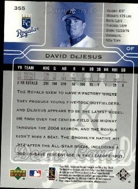 2005 Upper Deck #355  David DeJesus