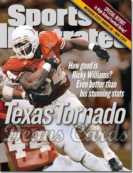 1998 Sports Illustrated - With Label   November 16  -  Ricky Williams Texas Longhorns