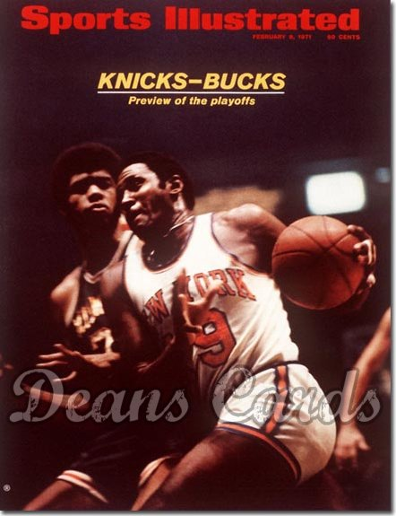 1971 Sports Illustrated - With Label   February 8  -  Lew Alcindor/Willis Reed (Bucks/Knicks)