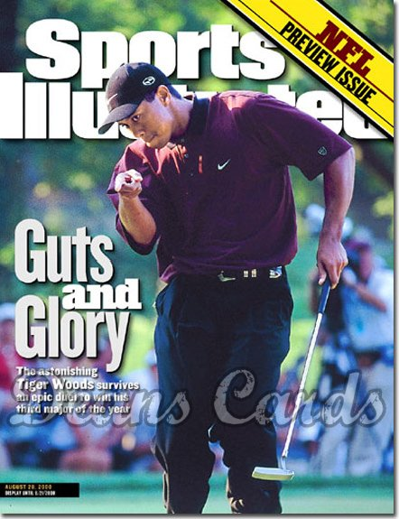 2000 Sports Illustrated - With Label   August 28  -  Tiger Woods