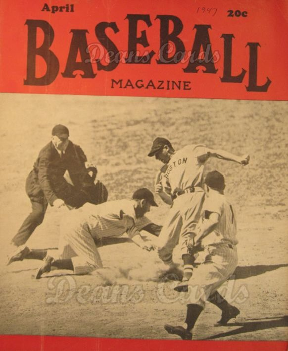 1947 Baseball Magazine    April