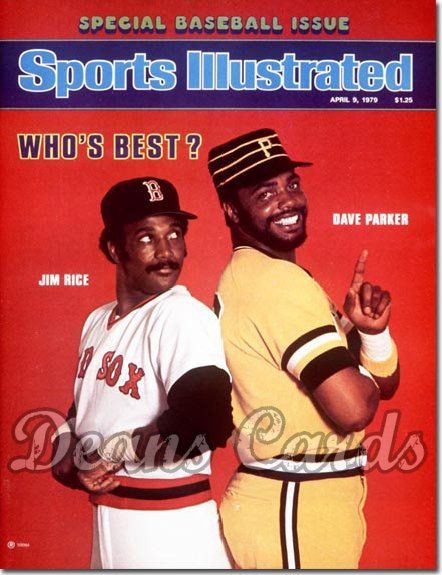 1979 Sports Illustrated - With Label   April 9  -  Jim Rice (Boston Red Sox)/Dave Parker (Pittsburgh Pirates)