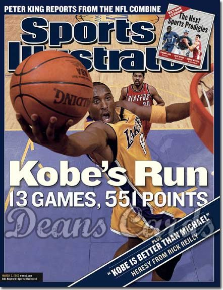 2003 Sports Illustrated - With Label   March 3  -  Kobe Bryant (LA Lakers)