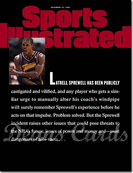 1997 Sports Illustrated - With Label   December 15  -  Latrell Sprewell (Golden State Warriors)