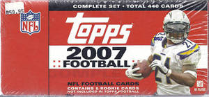 2007 Topps     Football Factory Sealed Complete Hobby Set