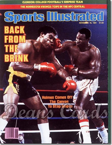 1981 Sports Illustrated - With Label   November 16  -  Larry Holmes/Renaldo Snipes