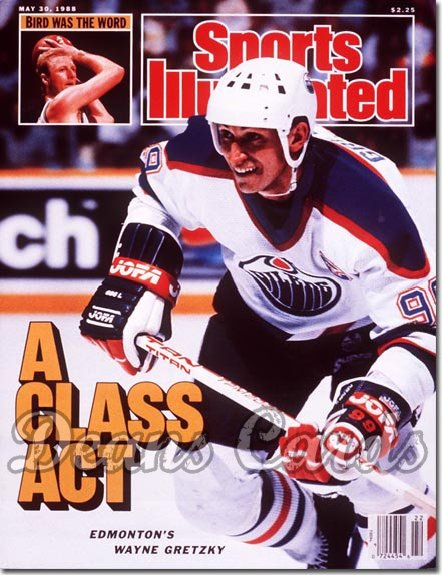 1988 Sports Illustrated - With Label   May 30  -  Wayne Gretzky (Edmonton Oilers)