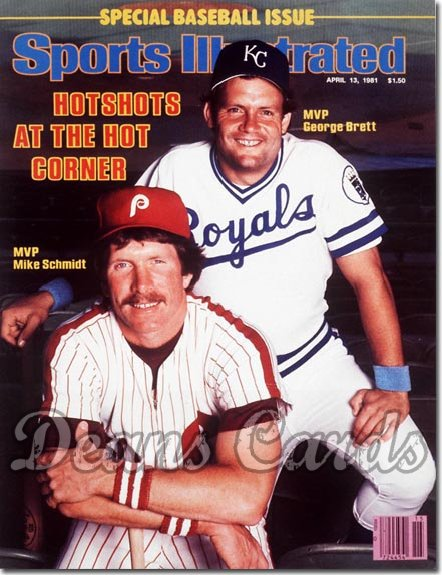 1981 Sports Illustrated - With Label   April 13  -  George Brett & Mike Schmidt Royals & Phillies