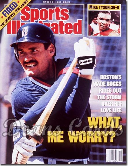 1989 Sports Illustrated - No Label   March 6  -  Wade Boggs (Boston Red Sox)