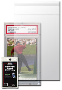 """Resealable Graded Card Sleeves 3 3/4 x 5 1/2 + 1"""" flap-Pack of 100"""