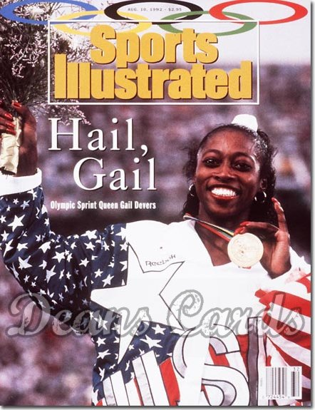 1992 Sports Illustrated - No Label   August 10  -  Gail Devers (USA Track)