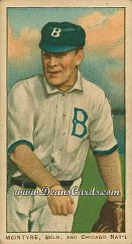 1909 T206 Reprint #325 TWO Harry McIntire