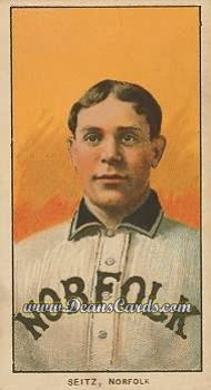 1909 T206 Reprint #433  Charles Seitz