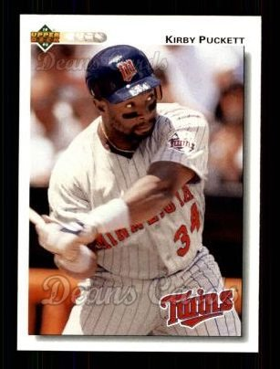 1992 Upper Deck #254  Kirby Puckett