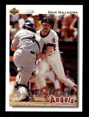 1992 Upper Deck #289  Dave Gallagher