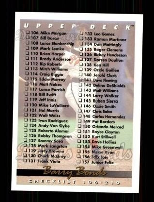 1993 Upper Deck #210  Barry Bonds