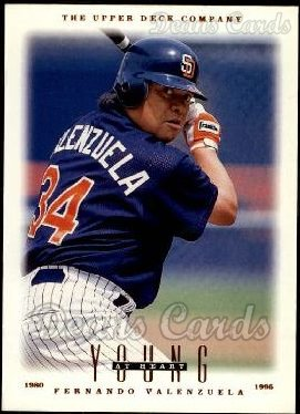 1996 Upper Deck #114   -  Fernando Valenzuela Young at Heart