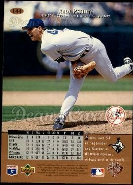 1996 Upper Deck #144  Andy Pettitte