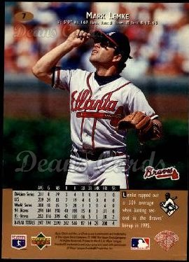 1996 Upper Deck #7  Mark Lemke