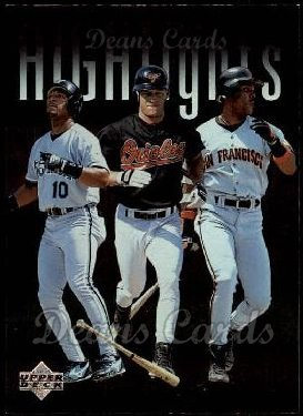 1997 Upper Deck #215   -  Barry Bonds / Gary Sheffield / Brady Anderson  Highlights