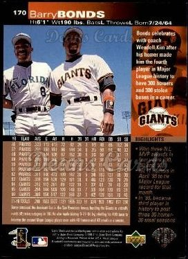 1997 Upper Deck #170  Barry Bonds