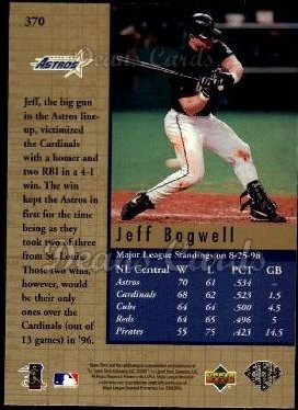 1997 Upper Deck #370   -  Jeff Bagwell Capture the Flag