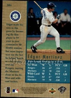 1997 Upper Deck #384   -  Edgar Martinez Capture the Flag