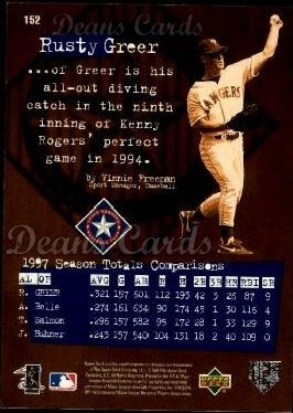 1998 Upper Deck #152   -  Rusty Greer Define The Game