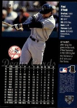 1998 Upper Deck #172  Paul O'Neill