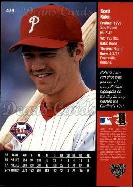 1998 Upper Deck #479  Scott Rolen