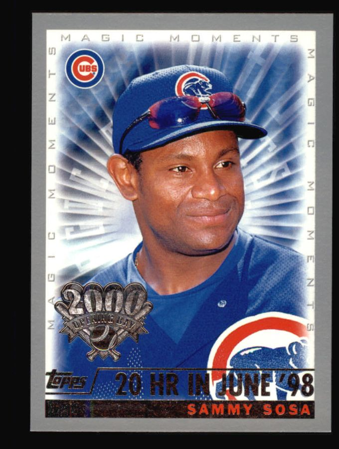 2000 Topps Opening Day #162   -  Sammy Sosa Magic Moments