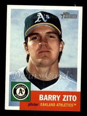 2002 Topps Heritage #441  Barry Zito